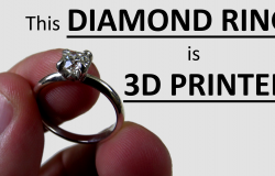 This Diamond Ring is 3D Printed